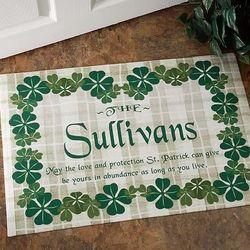 Personalized Irish Family Name Custom Doormat