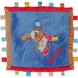 Personalized Taggies Buddy Dog Cozy Blanket