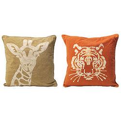 Handmade Safari Animal Pillow