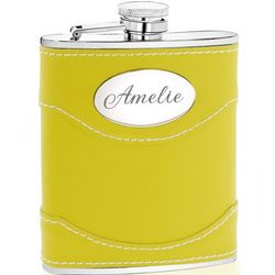 Sunshine Yellow Leather Flask