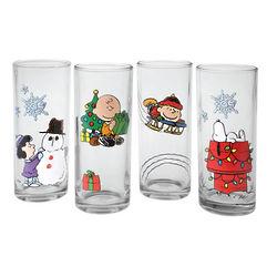 Peanuts Holiday Glasses