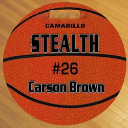 Round Custom Photo Basketball Bag Tag