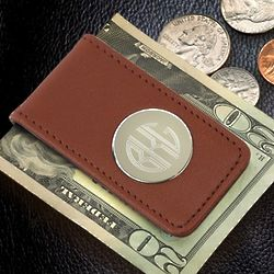 Brown Magnetic Money Clip