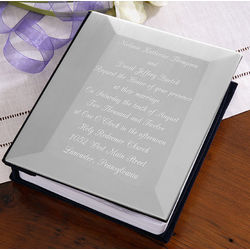 Engraved Silver Wedding Invitation Photo Album