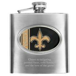New Orleans Saints Flask