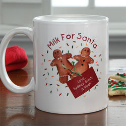 Personalized Milk for Santa Mug