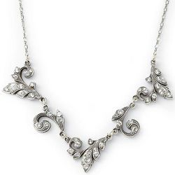 Astoriana Antiqued Crystal Necklace