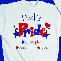 Personalized Heart and Stars Pride Sweatshirt