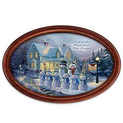 Thomas Kinkade Winter Wonderland Personalized Holiday Plate