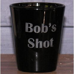 Personalized Engraved Black Whiskey Shot Glass