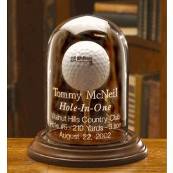 Personalized Hole-in-One Golf Ball Display