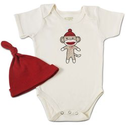 Sock Monkey Babysuit™ with Hat