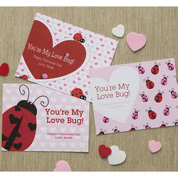 Little Ladybug Personalized Valentine Cards