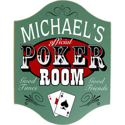 Handcrafted Poker Room Sign
