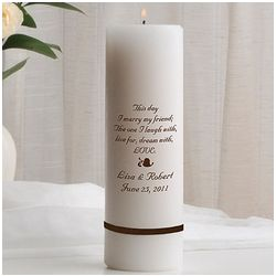 Personalized Unity Candle