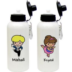 Custom Character Ballet Aluminum Water Bottle