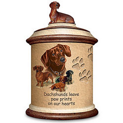Dachshund Stoneware Treat Canister