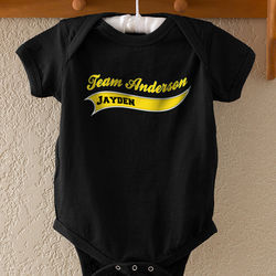 Sports Team Personalized Baby Bodysuit