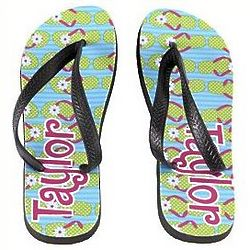 Personalized Fun in the Sun Flip Flops