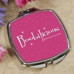Boobilicious Breast Cancer Awareness Compact Mirror