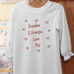 Girl's Personalized Somebody Loves Me Nightgown