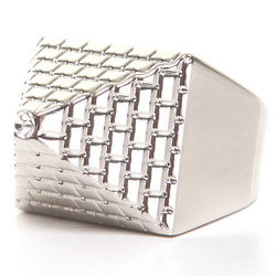 Men's Silver Pyramid Ring