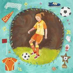 "Girl Soccer Star 14"" Wall Art Print"