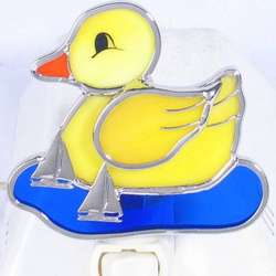 Rubber Ducky Stained Glass Night Light