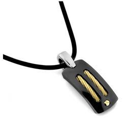 Black Titanium & Gold Sport Necklace