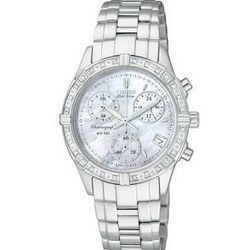 Stainless Steel Ladies' Watch with Round Mother-of-Pearl Dial