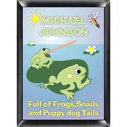 "Personalized ""Froggin"" Room Sign"