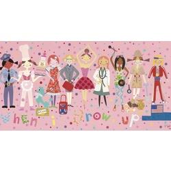 """""""When I Grow Up"""" Girls Wall Art"""