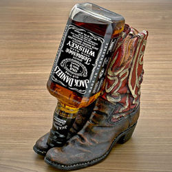 Cowboy Boot Liquor Bottle Holder