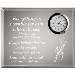 Personalized Everything is Possible Clock Plaque