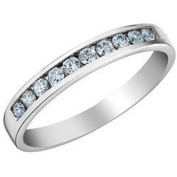 Diamond Anniversary and Wedding Band in 14K White Gold