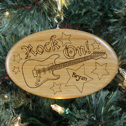 Personalized Wooden Guitar Ornament