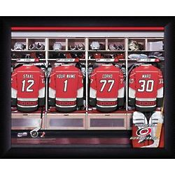 Personalized NHL Carolina Hurricanes Locker Room Print