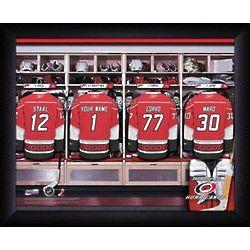 Personalized NHL Carolina Hurricanes Locker Room Print