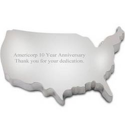 Personalized United States Silver Plated Paperweight