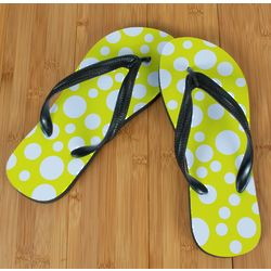 Yellow Polka Dot Beacher Sandal