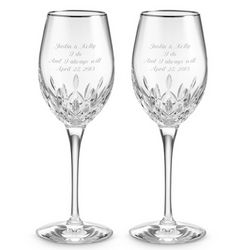 Lismore Essence Platinum White Wine Goblets