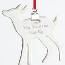 Personalized Deer Ceramic Ornament
