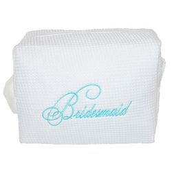 Embroidered Bridesmaid's Cosmetic Bag