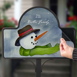 Christmas Snowman Personalized Yard Sign Magnet