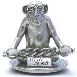 Write No Evil Monkey Pen Holder