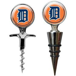 Detroit Tigers Cork Screw and Wine Bottle Topper Set