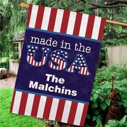 Personalized Made in the USA Indoor and Outdoor Flag