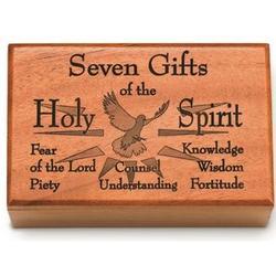 Mahogany Seven Gifts Rosary Box