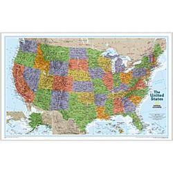 Laminated United States Explorer Map