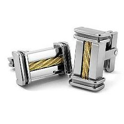 Titanium & 14K Gold Cufflinks